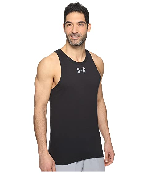 Buy Online Under Armour UA Baseline Cotton Tank Top Black/White Fashion Style Sale Online 8VuUm