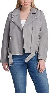 Levi's Ladies Outerwear Women's Plus Size Faux Suede Motorcycle Jacket