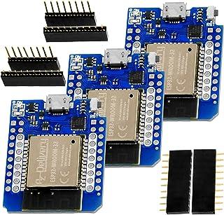AZDelivery 3 pcs ESP32 D1 Mini NodeMCU WiFi Módulo + Bluetooth Placa de Desarrollo de Internet de las cosas compatible con...