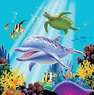 Dolphin Under the Sea Edible Cake Topper Image Cupcakes Ocean Baby Shower Edible