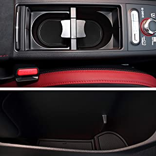Custom Fit Cup and Console Liner Acessories for Subaru STI 2015 2016 2017 2018 2019 2020 (Solid Black)