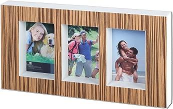 """Breeze Point A98102 4"""" x 6"""" إطار صندوق خشبي مزخرف مع 3 فتحات للصور - يكمل الديكور المعاصر، التقليدي، الحديث، الشاطي/الساح..."""