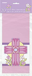 Unique Party Sacred Cross Cello Bags (Pack of 20) (UK Size: One Size) (Pink)