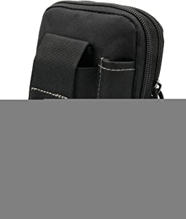 DURAGADGET Black Multi-Purpose Waist Bag with Two Zipped Compartments - Compatible with Goodmans GDPRDAB Pocket DAB Radio