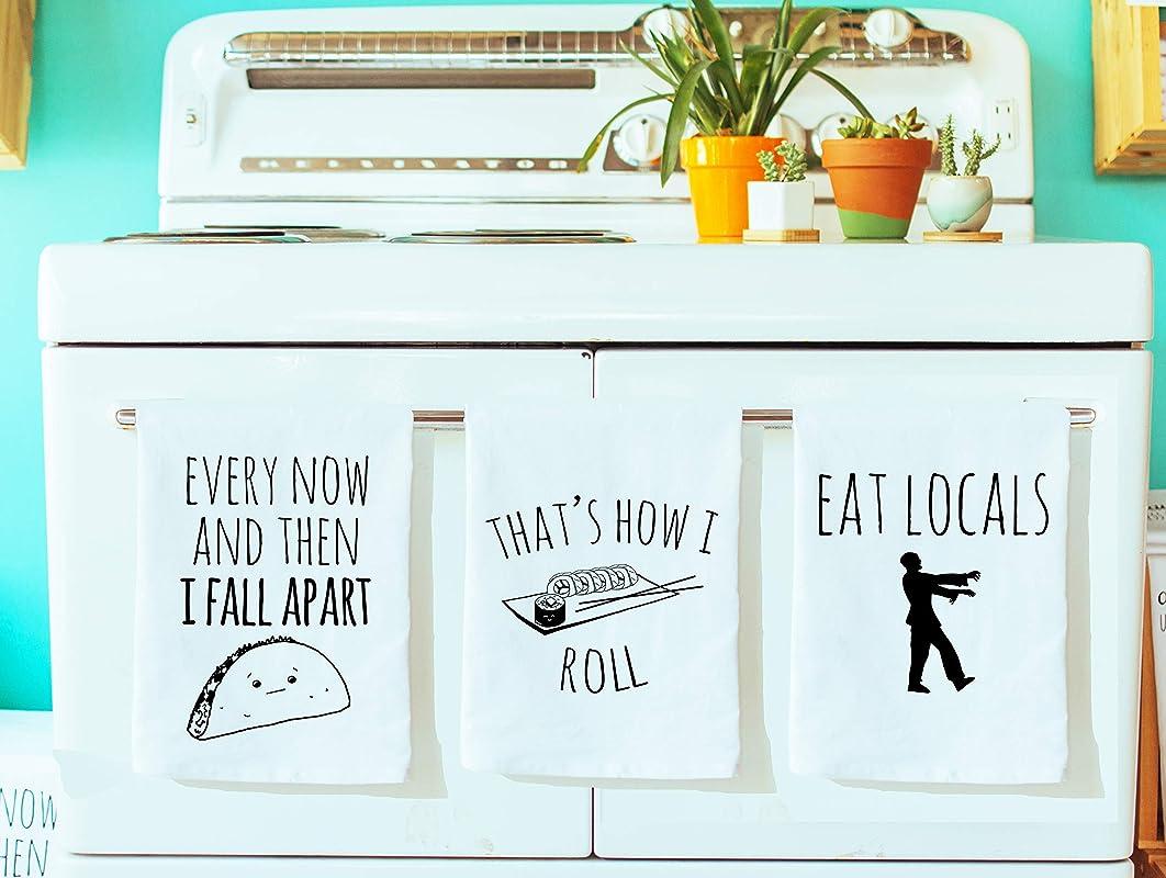 Funny Dishcloths Tea Towels Discount Mix And Match 3 Funny Kitchen Cloths