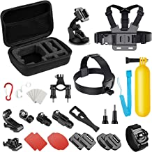 Basic Common Action Camera Outdoor Sports Accessories Kit for Gopro Hero 8/7/6/fusion/5/Session/4/3/2/ DJI OSMO / SJ4000/5000/6000/Xiaomi Yi/AKASO/APEMAN/DBPOWER/Sony Sports DV and More