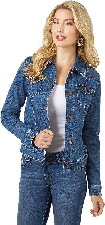 Vintage Western Wear Clothing, Outfit Ideas Wrangler Womens Retro Western Denim Jacket  AT vintagedancer.com