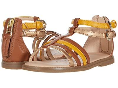 Geox Kids Sandal Karly 36 (Little Kid) (Caramel) Girl