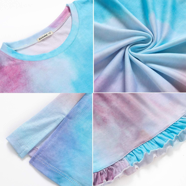 MisSealed Womens Tie Dye Pajama Sets Sleeveless Tees and Shorts Lounge Sleepwear Pj Set