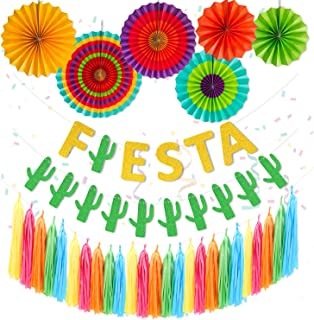 Fiesta Party Supplies Fiesta Paper Fans Cacti Banner Colourful Paper Tassel Garland Mexico Cinco De Mayo Taco Party Engage...
