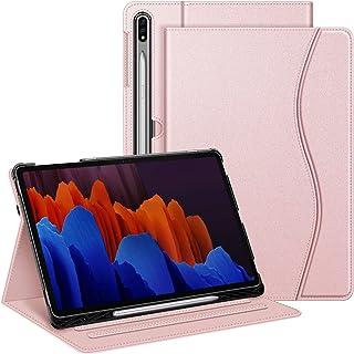جراب Fintie لهاتف Samsung Galaxy Tab S7 Plus 12.4 بوصة 2020 (الموديل: SM-T970/T975/T976/T978) مع حامل أقلام صغير، غطاء حام...