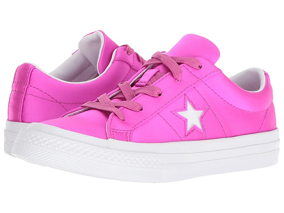 Converse Kids One Star Ox (Little Kid) (Hyper Magenta/White/White) Girls Shoes