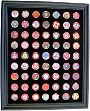 Tiny Treasures, LLC. Black Casino Chip Display Frame for 63 Casino Poker Chips (not included)