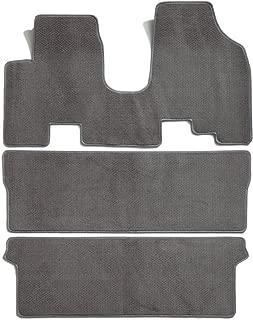 Premier Custom Fit 3-piece Set All One Piece Carpet Floor Mats for Honda Odyssey (Premium Nylon, Gray)