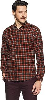 Spykar Men's Checkered Slim Fit Casual Shirt