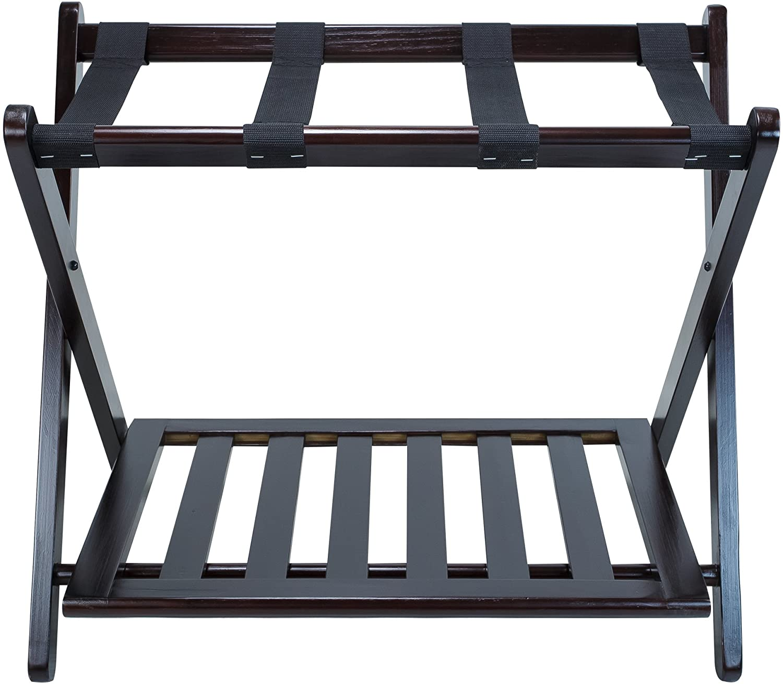 Direct shopping sale of manufacturer HappyDealer Luggage Rack Espresso