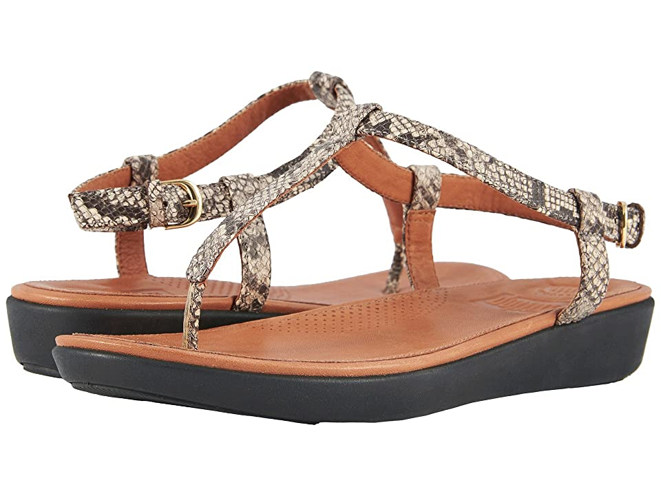 FitFlop Tia Toe Thong Sandals (Taupe Snake) Women
