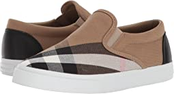 Burberry Kids - Linus Check Trainer (Toddler/Little Kid)