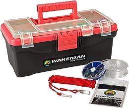 Wakeman balık tutma Single Tray Tackle Box 55PC Tackle kiti
