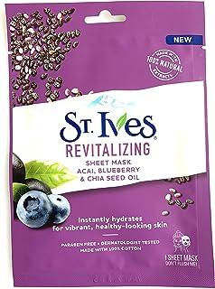 St. Ives Skin Care Sheet Mask Revital Acai 1 ct, Pack of 40