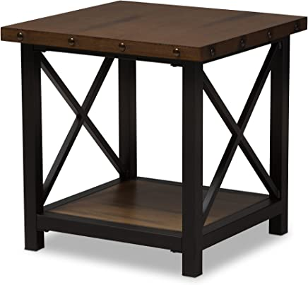 featured product Baxton Studio Reine Metal & Wood Occasional End Table
