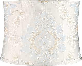 Skovde Blue Soft Drum Lamp Shade 13x14x10 (Spider) - Springcrest