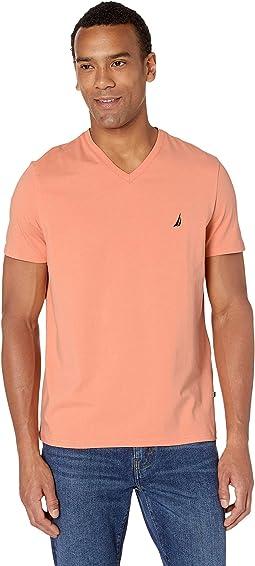Short Sleeve Fashion Jersey V-Neck Tee