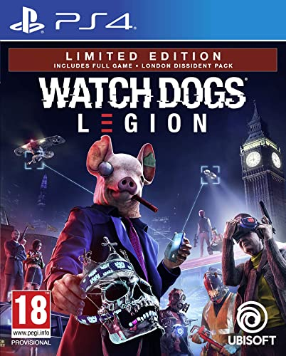 ubisoft spa a socio unico watch dogs legion - limited [esclusiva amazon] - playstation 4 300111679