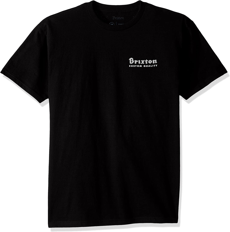 744671c6b0 Brixton Mens Crowich Crowich Crowich Short Sleeve Standard Tee T-Shirt  793400