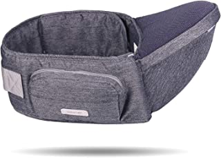 Baby Hip Seat Carrier,Baby Waist Seat with Adjustable Strap and Pocket,Baby Carrier Waist Stool Convinient Baby Front Carr...