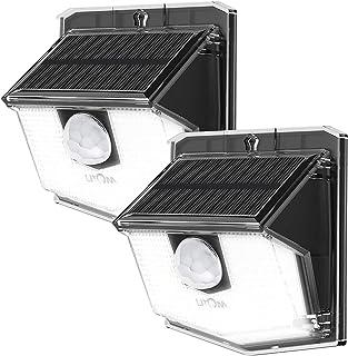 LITOM Solar Lights Outdoor, IP67 Waterproof Solar Powered Motion Sensor Lights 60 LEDs Wireless Solar Security Wall Lights...