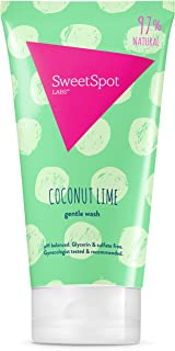 SweetSpot Labs Natural, pH Balanced, Gentle Feminine Body Wash, Coconut Lime, 8 Ounce   Dermatologist & Gynecologist Tested