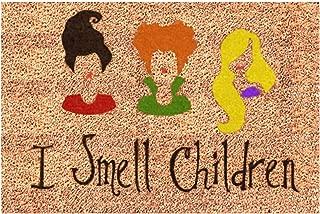I Smell Children Door Mat - Welcome Family Doormat - Hocus Pocus - Sanderson Sisters - Funny Mat Rug