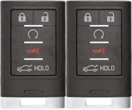 KeylessOption Keyless Entry Remote Start Car Smart Key Fob Clicker for Cadillac SRX NBG009768T (Pack of 2)