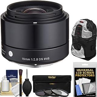 Sigma 19mm f / 2.8EX DNアートレンズwith 3UV/CPL / nd8フィルタ+スリングバックパック+キットfor Olympus/Panasonic Micro 4/ 3デジタルカメラ