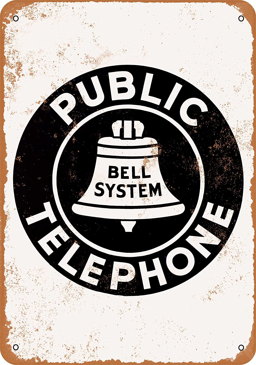 Dedication Wall-Color 7 x Inventory cleanup selling sale 10 Metal Sign Public - Telephone Bell Vi System