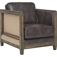Deals on Signature Design by Ashley Copeland Rustic Faux Leather Chair