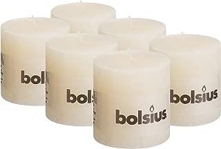 bolsius rustic pillar candles