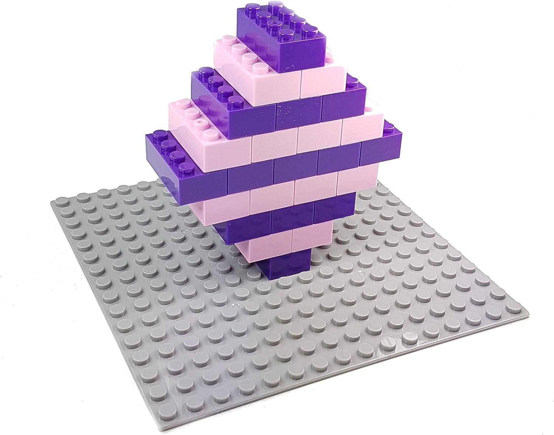 Bausteine - 520 Stück, Kompatibel zu Allen Anderen Herstellern - Inklusive Box und Grundplatte, Mehrfarbig Bunt Mehrfarbig / Pink Lila