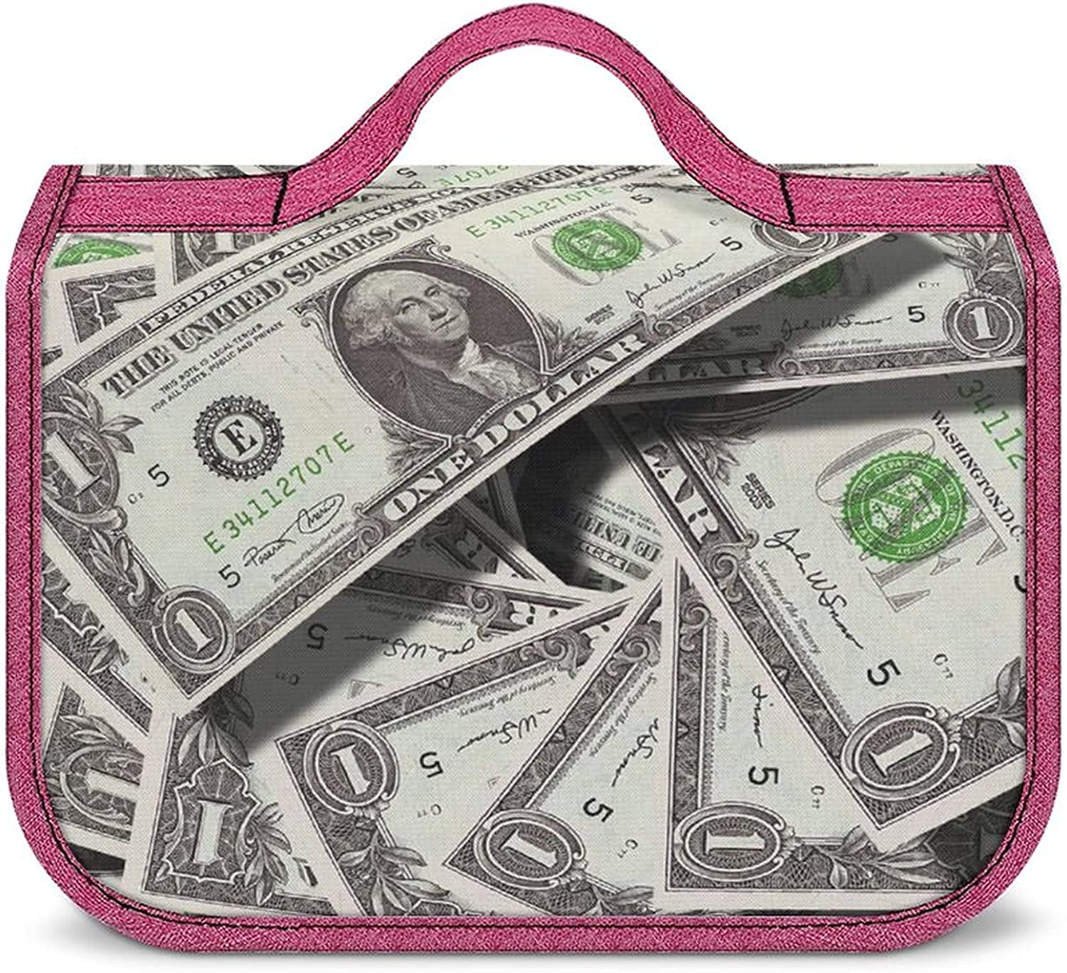 Bills Cash Dollars Large Toiletry Bag 25% OFF Hanging Popularity M Hook With Travel