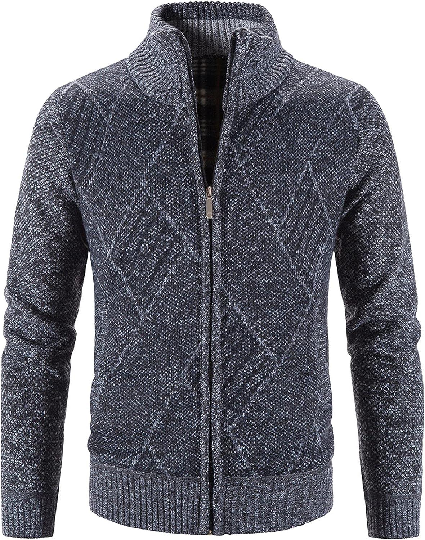 Max 87% OFF Men's Casual Cardigan Sweaters Jacket Weekly update Slim Full Fit T Zip Fleece