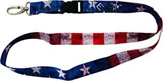 Old Glory USA Flag Lanyard - Detachable Buckle and Upgraded Clasp for Keys, ID Card, Name Holder, etc.