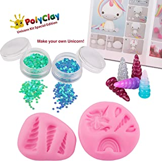 Polyclay Modeling Clay Crafting Unicorn Accessories Kit 10 PCS DIY Themed Crafting Projects Simple Step-By-Step Create Arts Figures