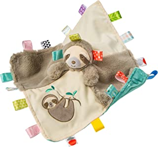 Taggies Soothing Sensory Stuffed Animal Security Blanket, Molasses Sloth, 13 x 13-Inches