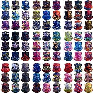 HCMY Multifunctional Magic Scarf Outdoor Headwear Bandana Sports Tube UV Face Mask for Workout Yoga 12pcs Random