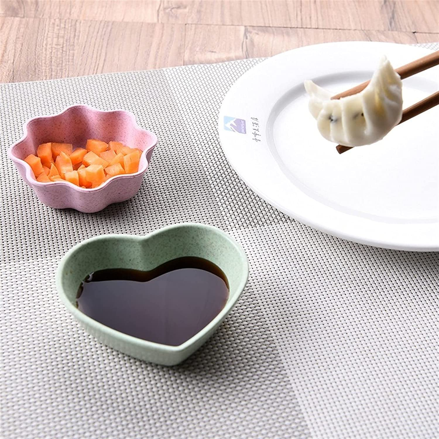 appetizer Max 83% OFF plates 3PCS Wheat Straw Great interest Household Seasoning Di Kitchen