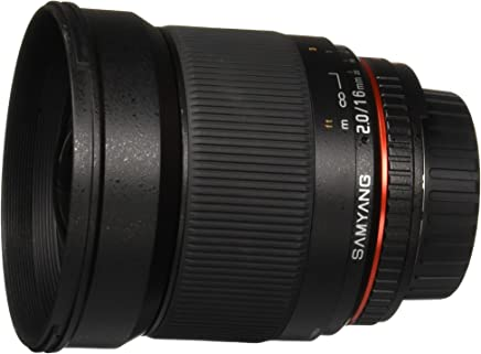 Samyang SY16MAF-N 16mm f/2.0 Aspherical Wide Angle Lens with Auto Confirm Chip for Nikon (DX) Cameras