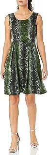 Star Vixen womens Classic Str Ponte Knit Sleeveless Box-Pleat FitnFlare Dress Dress