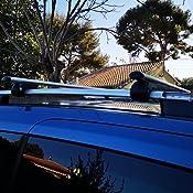verrouillables et antivol pour toit de voiture Hardcastle Barres en aluminium aérodynamiques