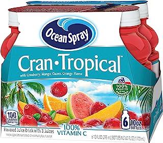 Ocean Spray Cran-Tropical Juice Drink, 10 Ounce Bottle (Pack of 6)